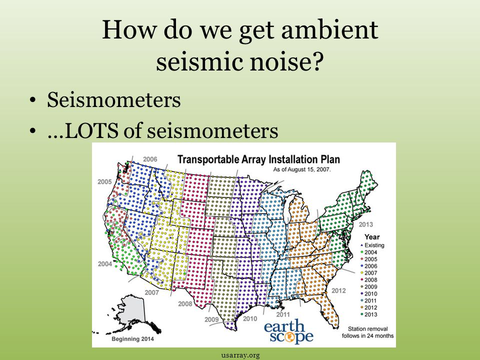 How do we get ambient seismic noise