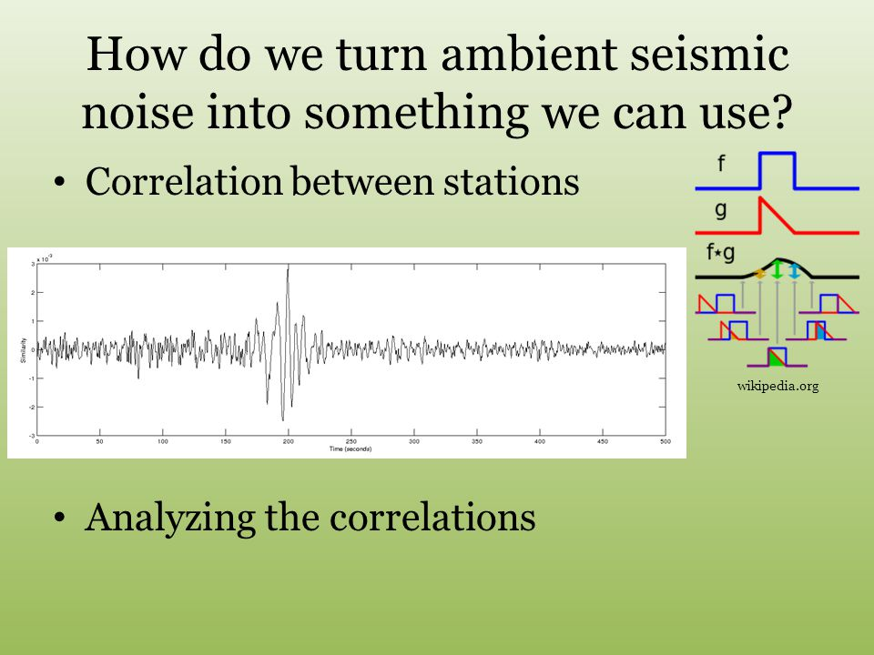 How do we turn ambient seismic noise into something we can use