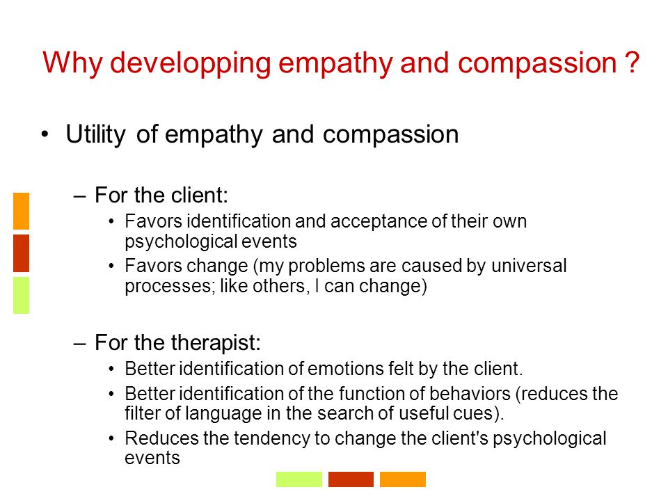 Why developping empathy and compassion