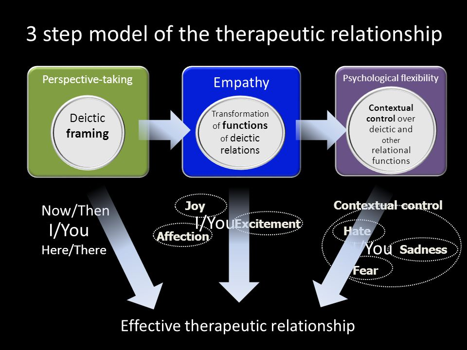 3 step model of the therapeutic relationship