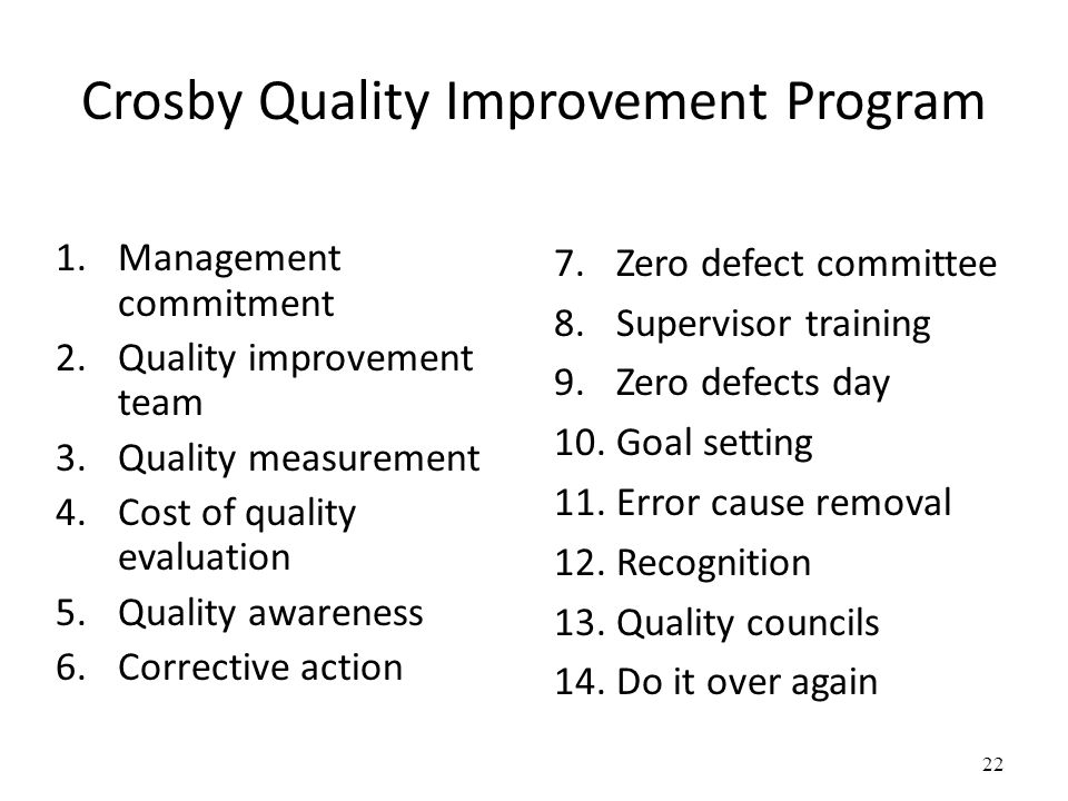 Crosby Quality Improvement Program