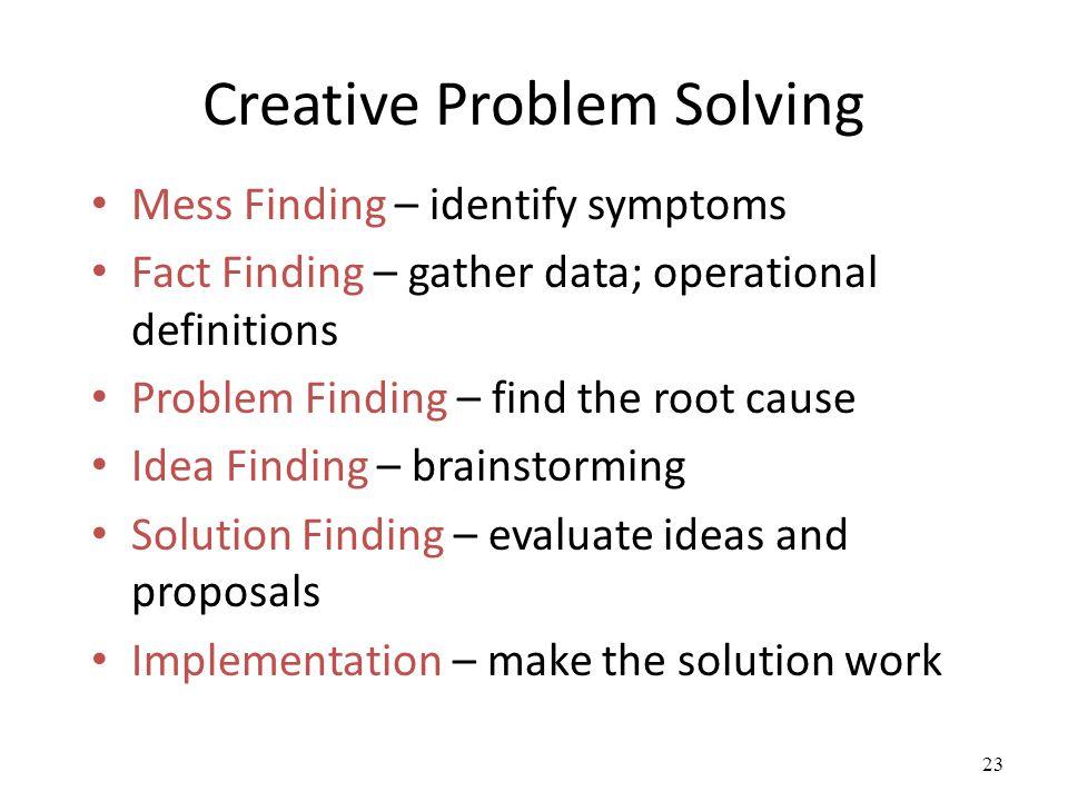 creative problem solving process pdf