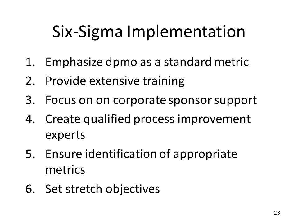 Six-Sigma Implementation
