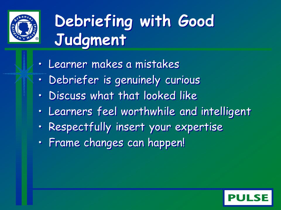 Debriefing with Good Judgment