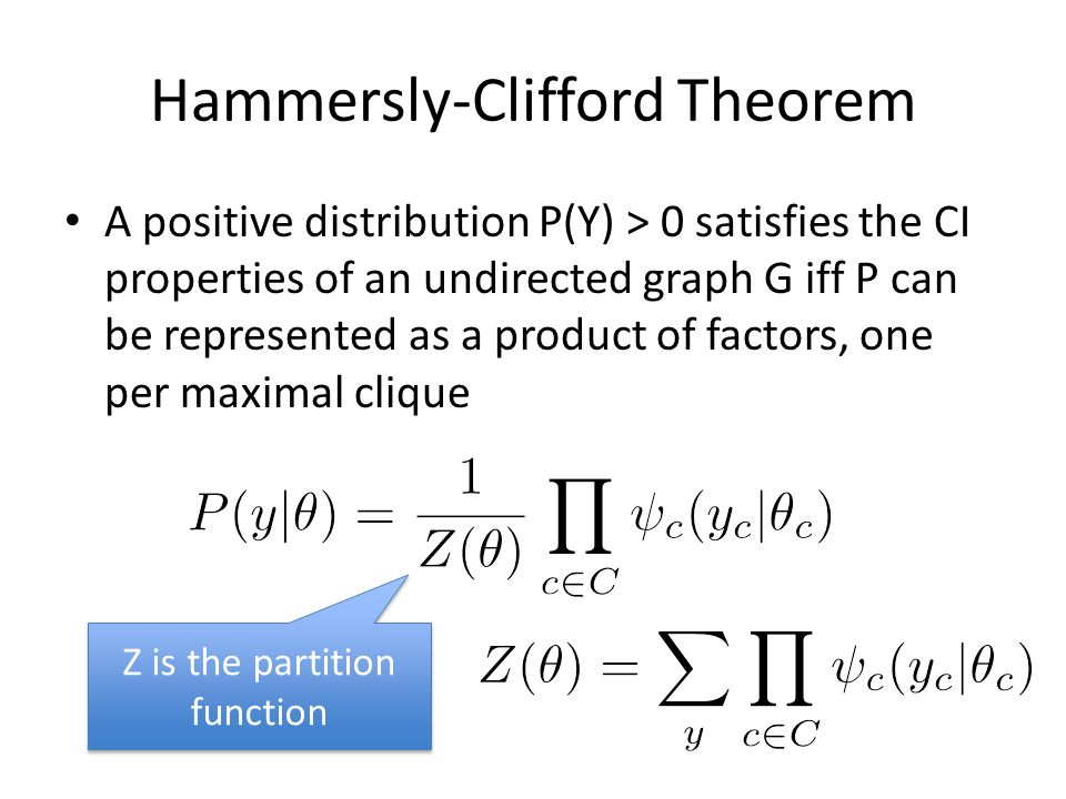 Hammersly-Clifford Theorem