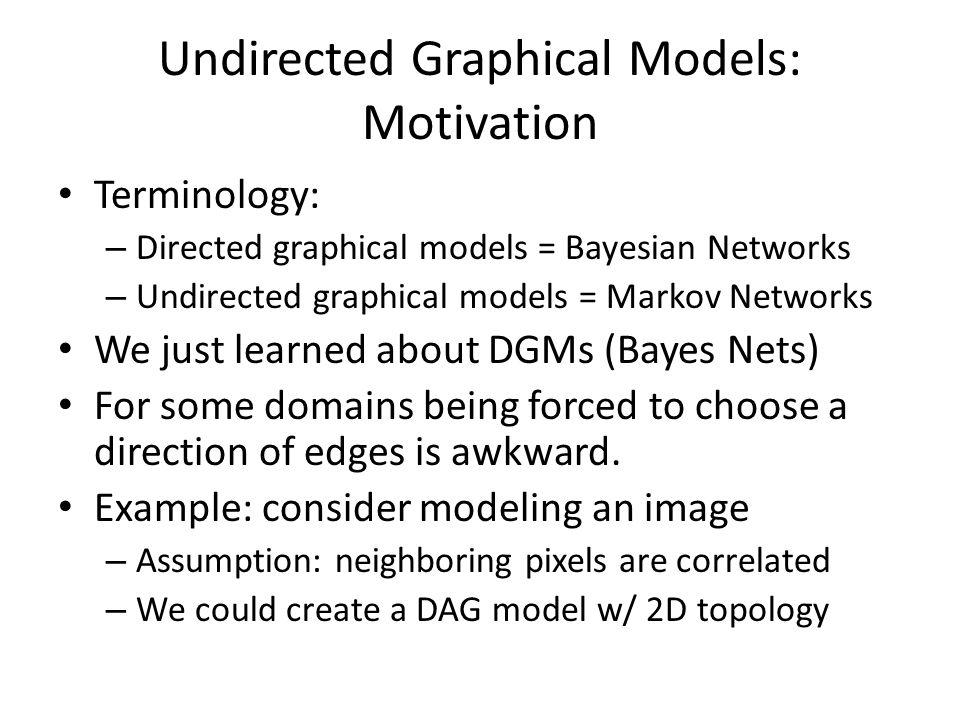 Undirected Graphical Models: Motivation