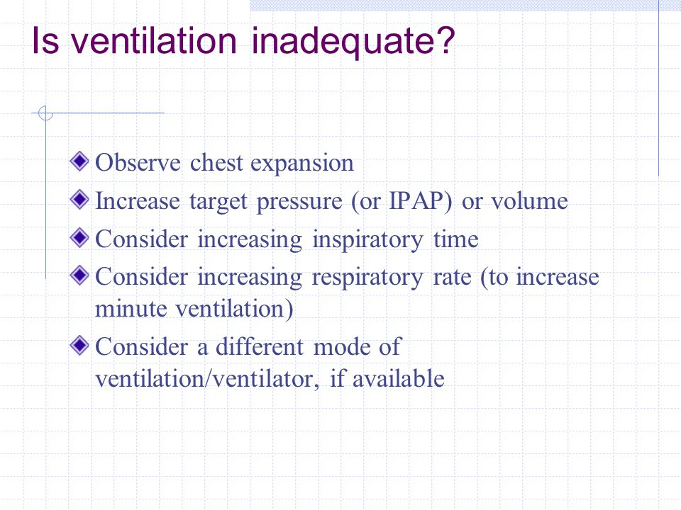 Is ventilation inadequate
