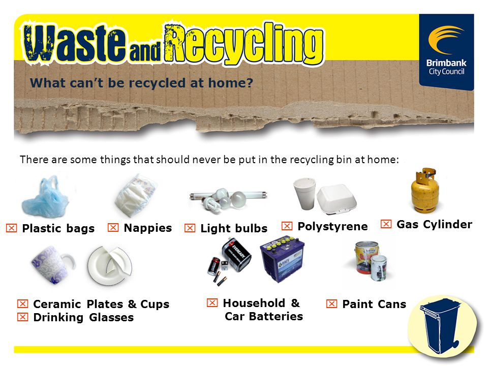 What can't be recycled at home