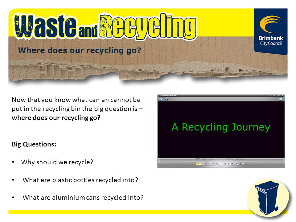 A Recycling Journey Where does our recycling go