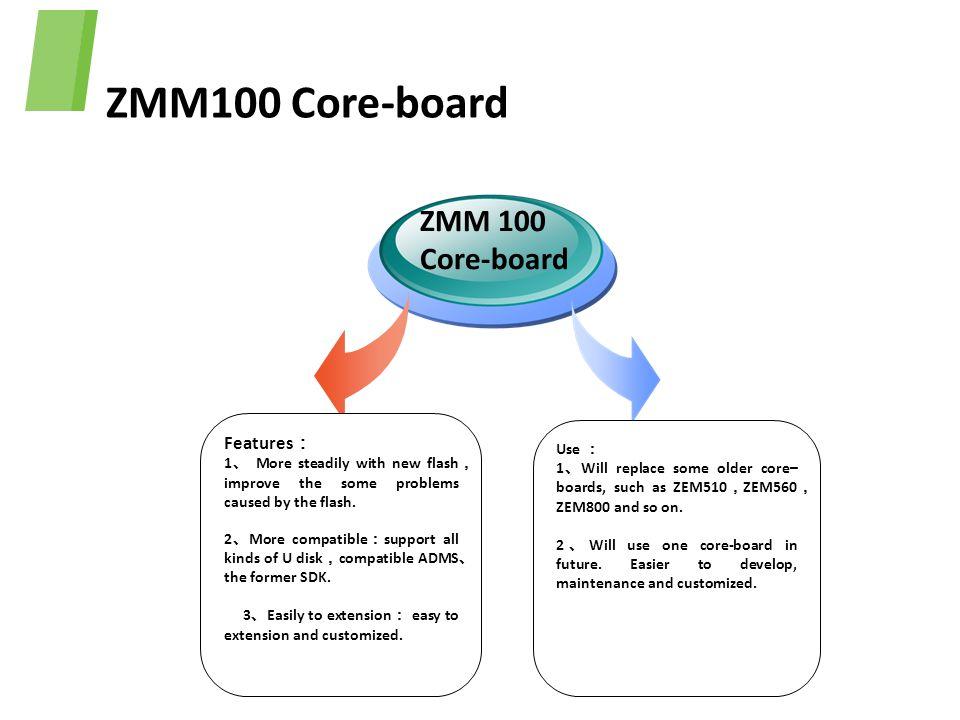 ZMM100 Core-board ZMM 100 Core-board Features: Use :