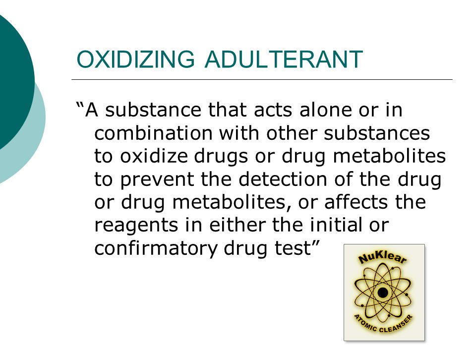 OXIDIZING ADULTERANT