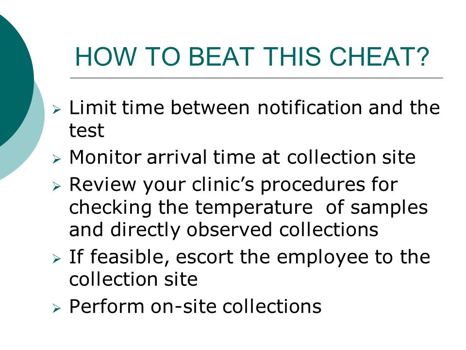 HOW TO BEAT THIS CHEAT Limit time between notification and the test