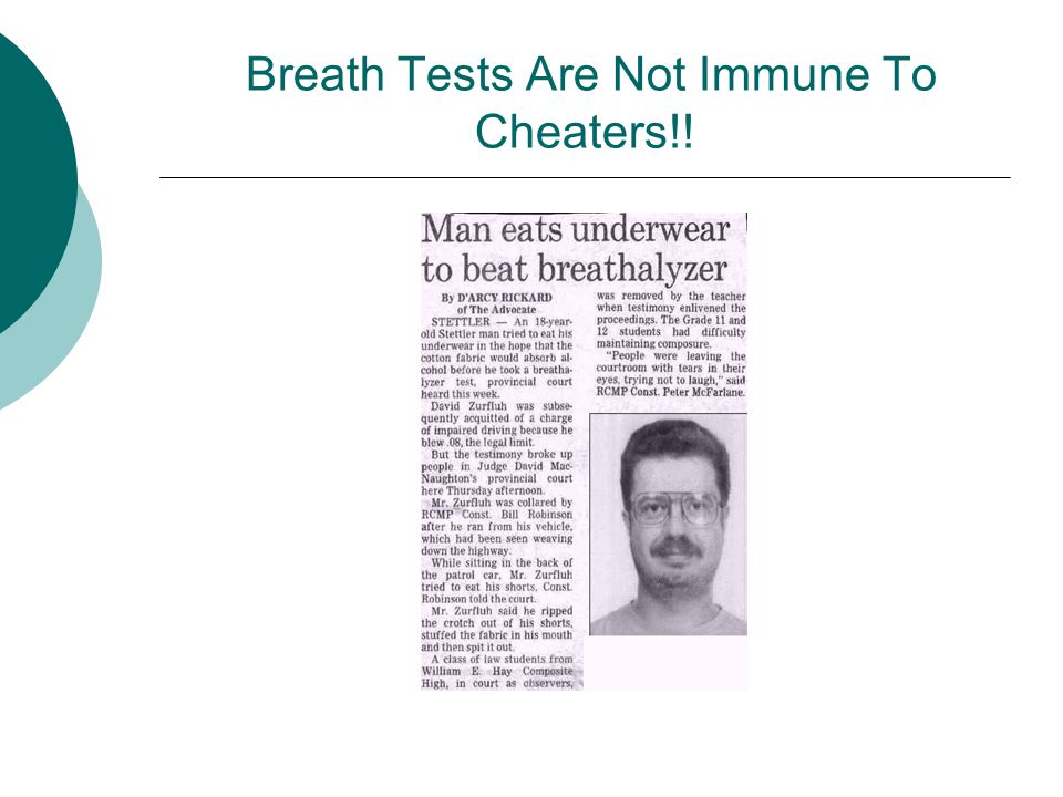 Breath Tests Are Not Immune To Cheaters!!