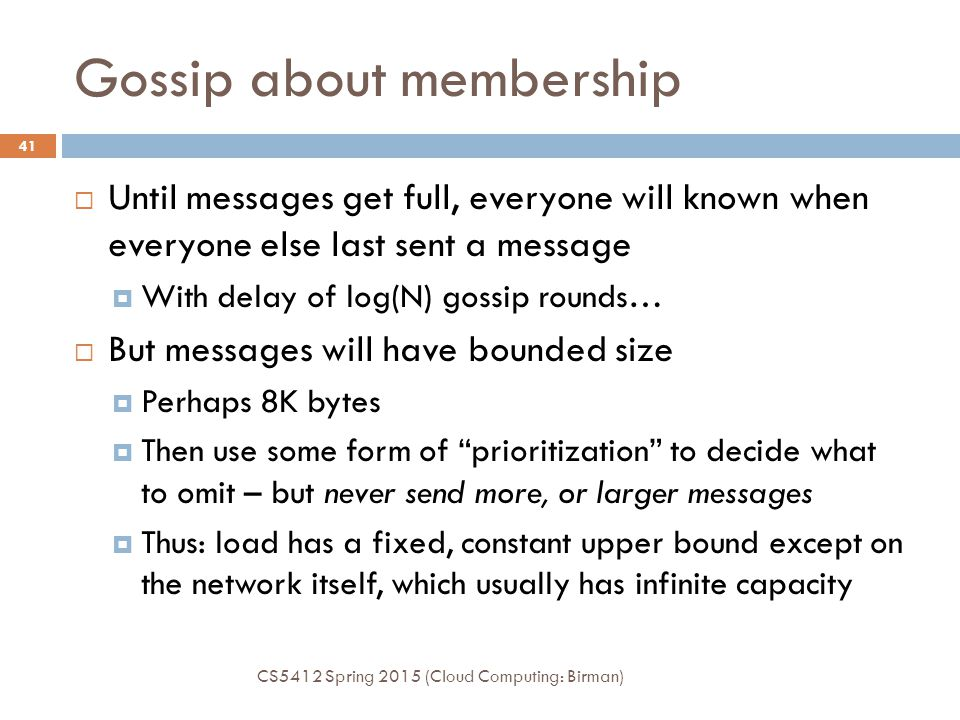 Gossip about membership