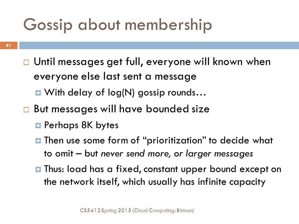 Gossip about membership