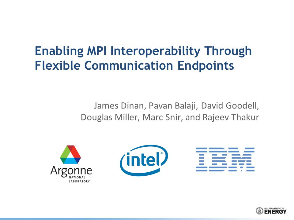 Enabling MPI Interoperability Through Flexible Communication Endpoints