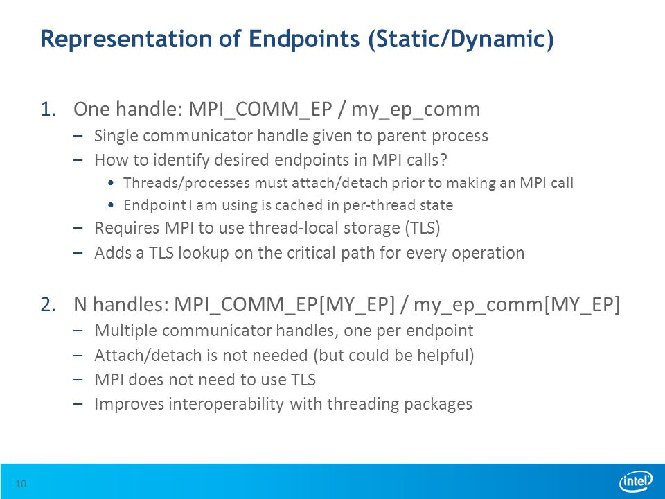 Representation of Endpoints (Static/Dynamic)
