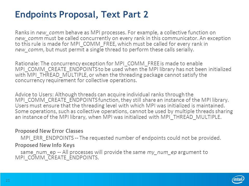 Endpoints Proposal, Text Part 2