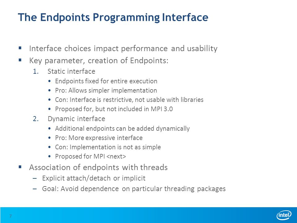The Endpoints Programming Interface