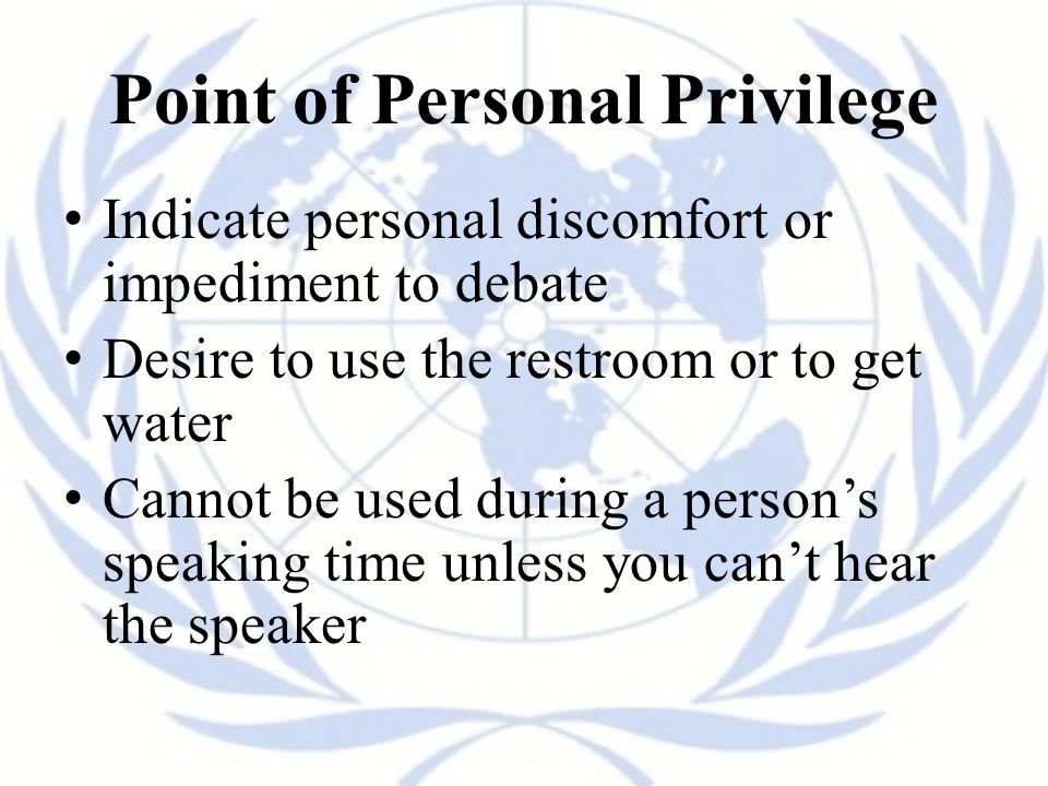 Point of Personal Privilege