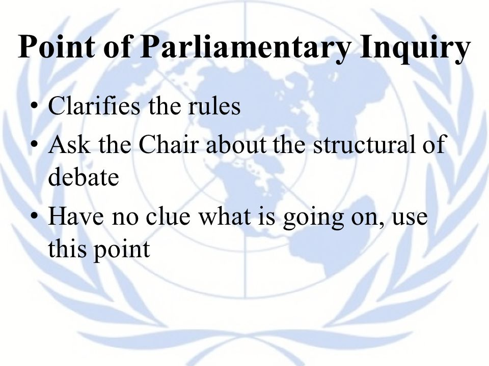 Point of Parliamentary Inquiry