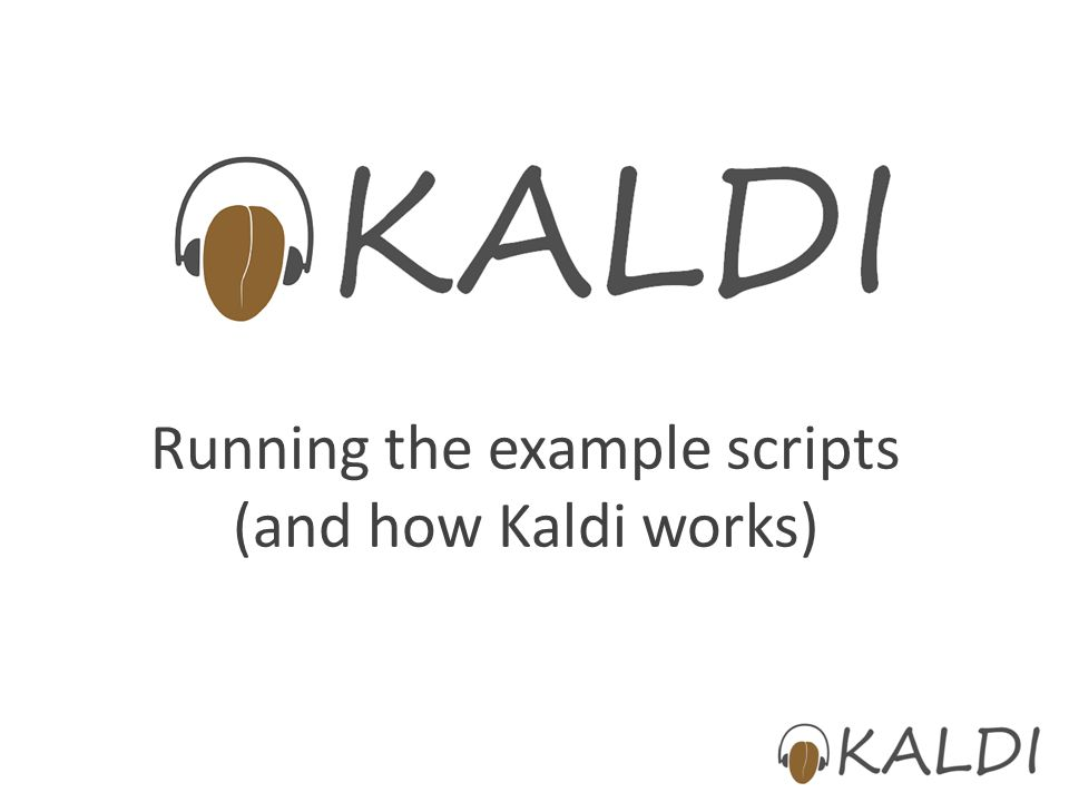 Running the example scripts (and how Kaldi works)