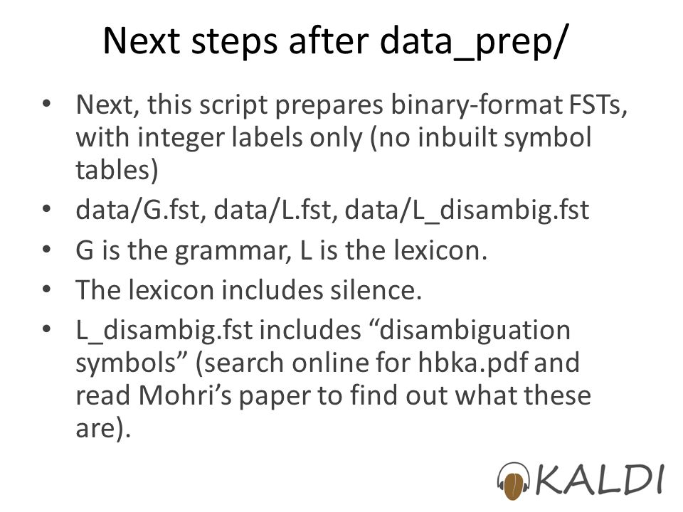 Next steps after data_prep/