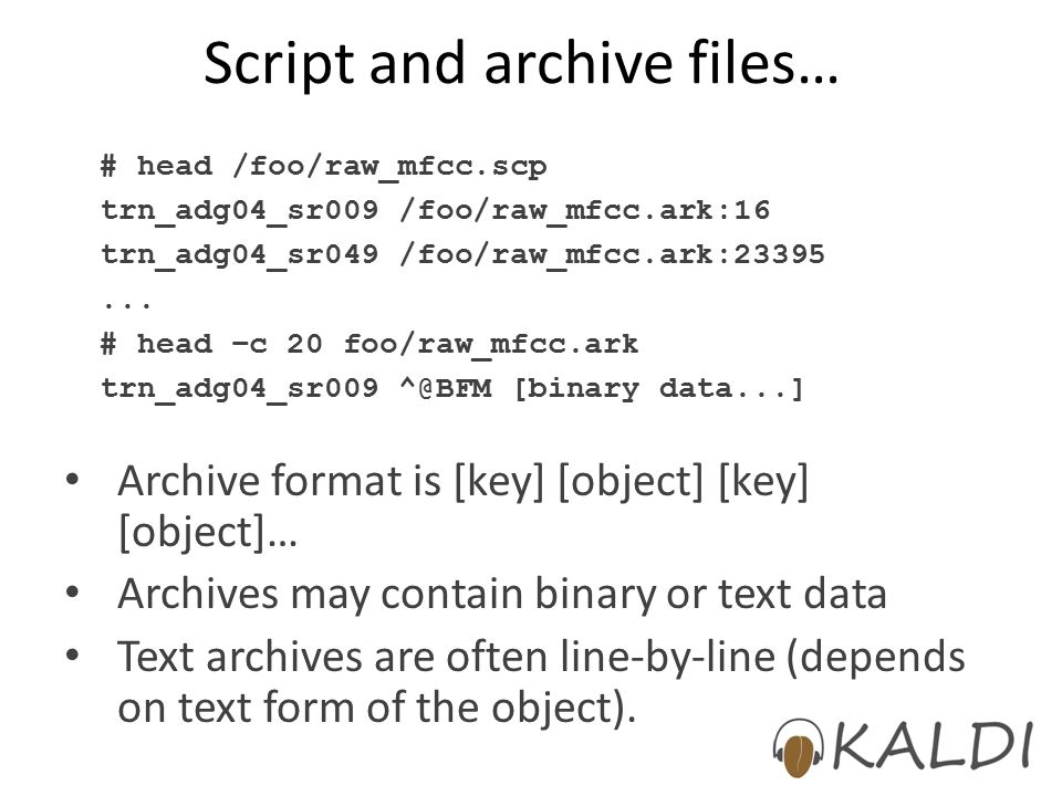Script and archive files…
