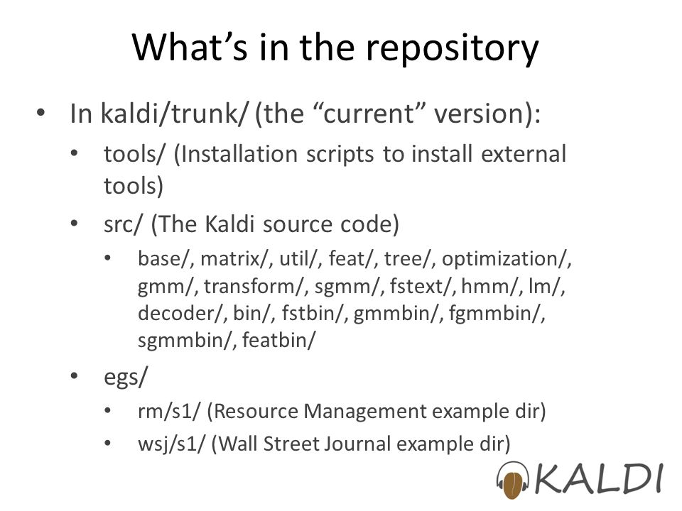 What's in the repository