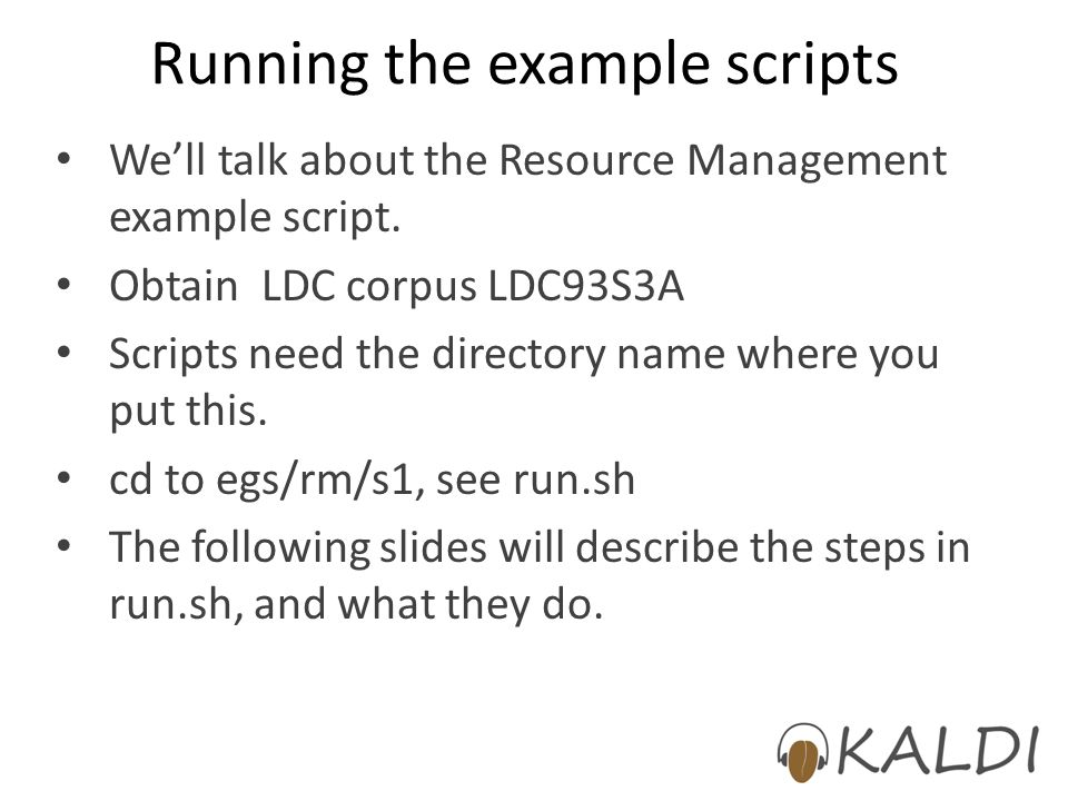 Running the example scripts
