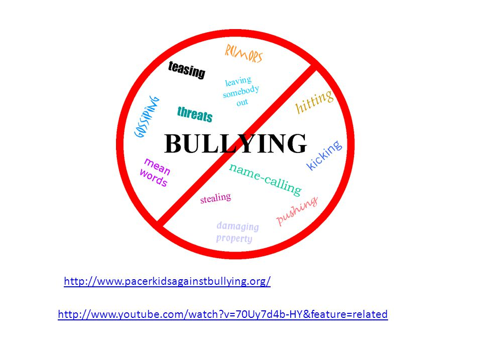 http://www.pacerkidsagainstbullying.org/ http://www.youtube.com/watch v=70Uy7d4b-HY&feature=related