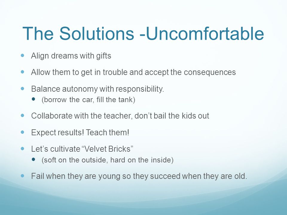 The Solutions -Uncomfortable