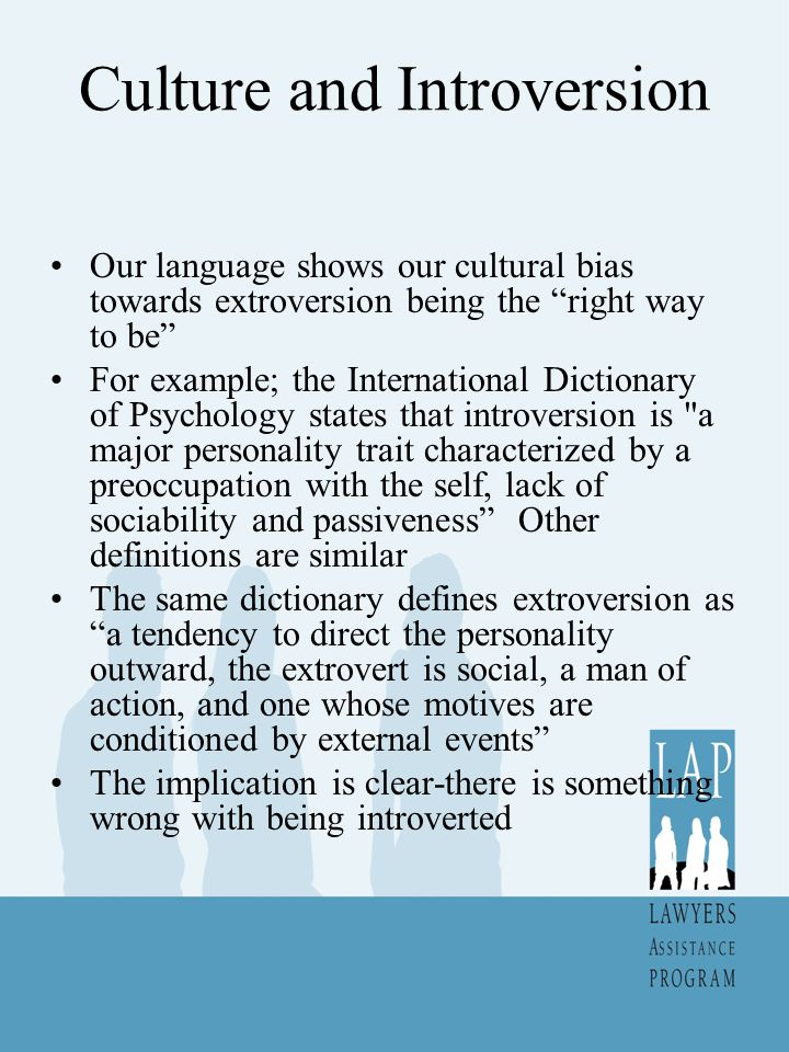 Culture and Introversion