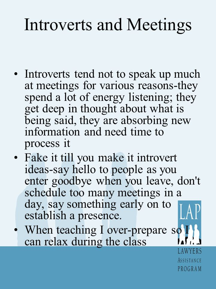 Introverts and Meetings