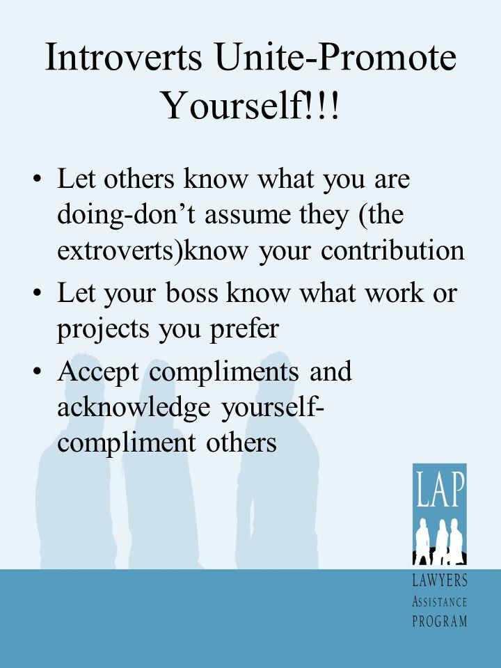 Introverts Unite-Promote Yourself!!!