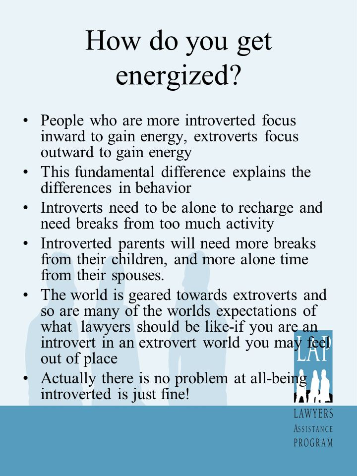 How do you get energized