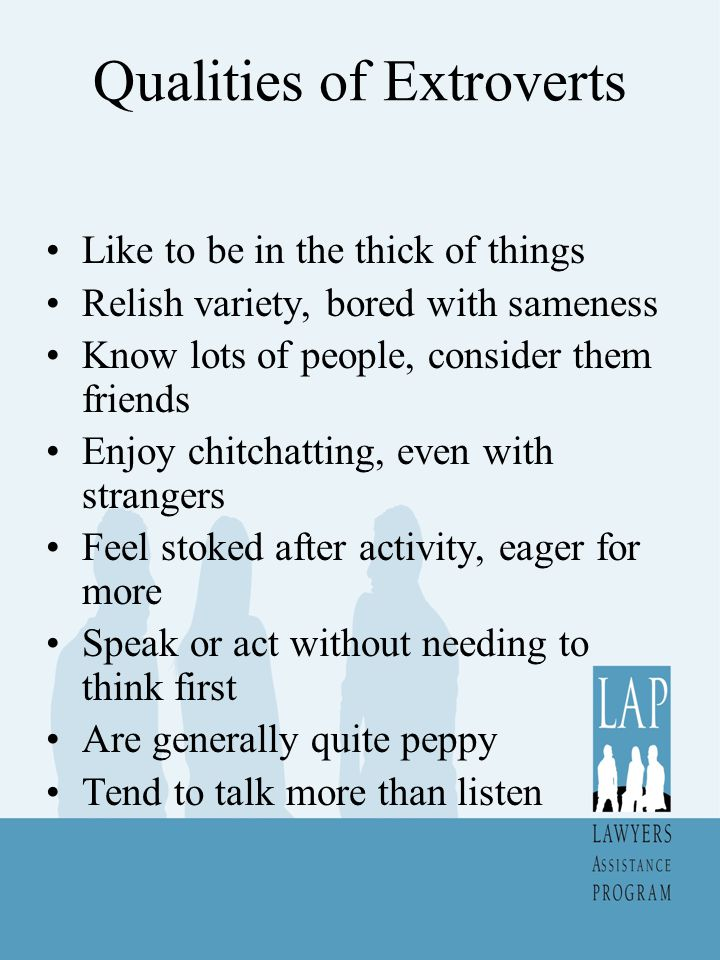 Qualities of Extroverts
