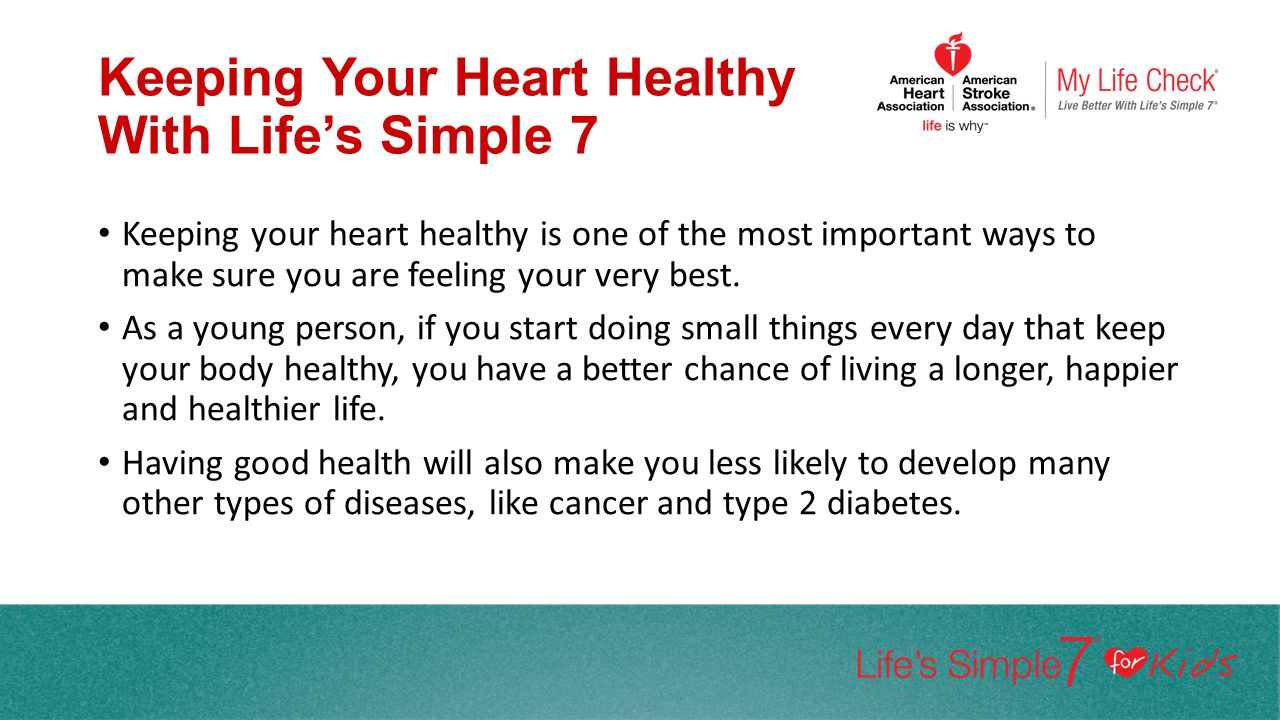 Keeping Your Heart Healthy With Life's Simple 7