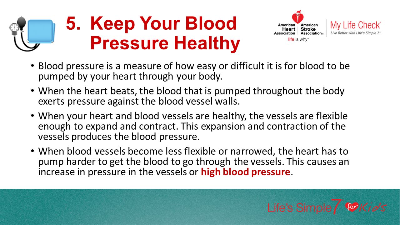 Keep Your Blood Pressure Healthy