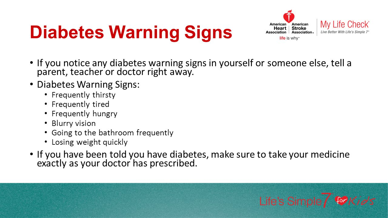 Diabetes Warning Signs
