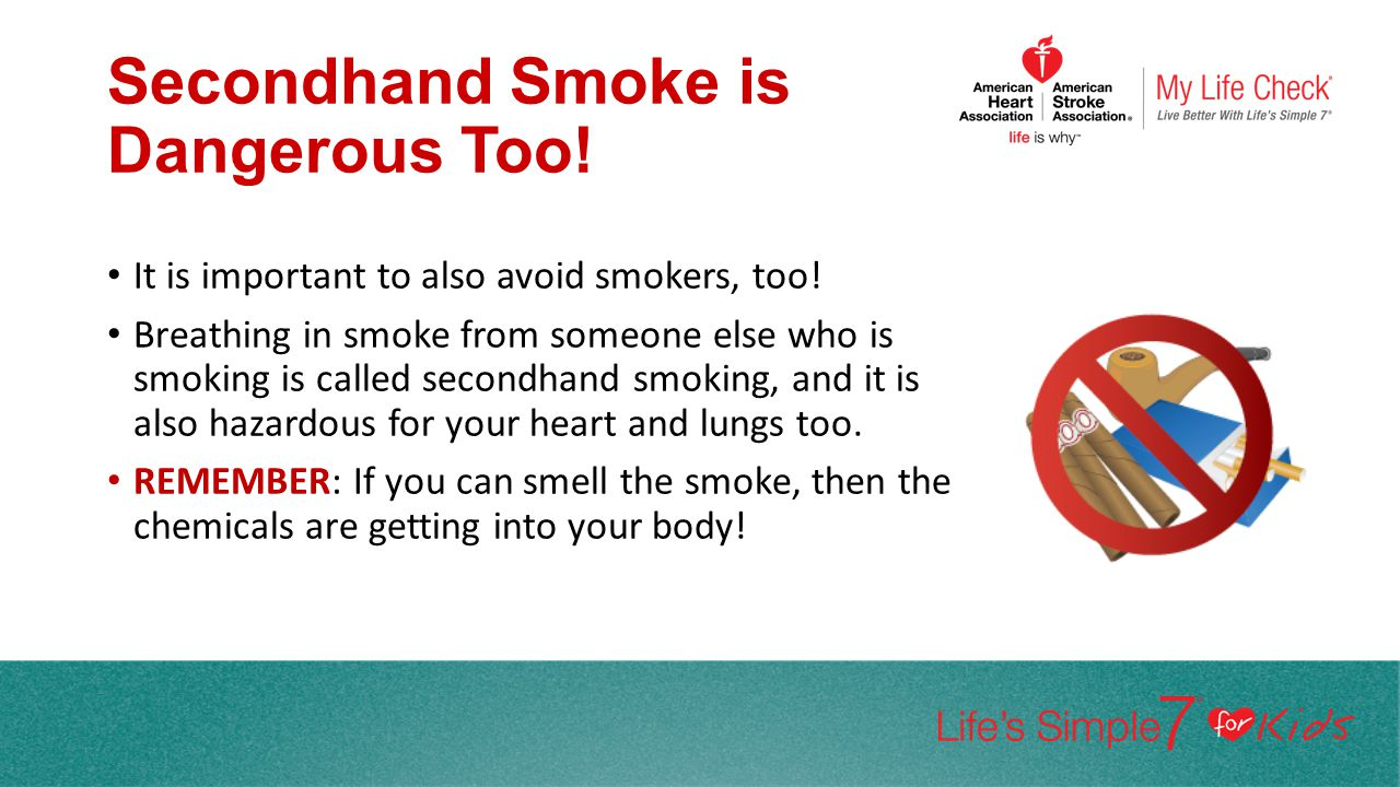 Secondhand Smoke is Dangerous Too!
