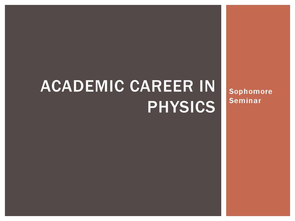 Academic Career in Physics