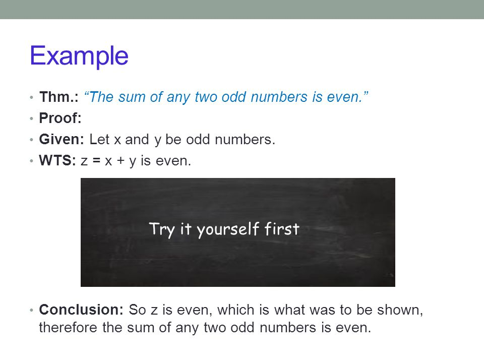 Example Try it yourself first