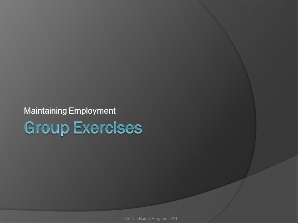 Maintaining Employment