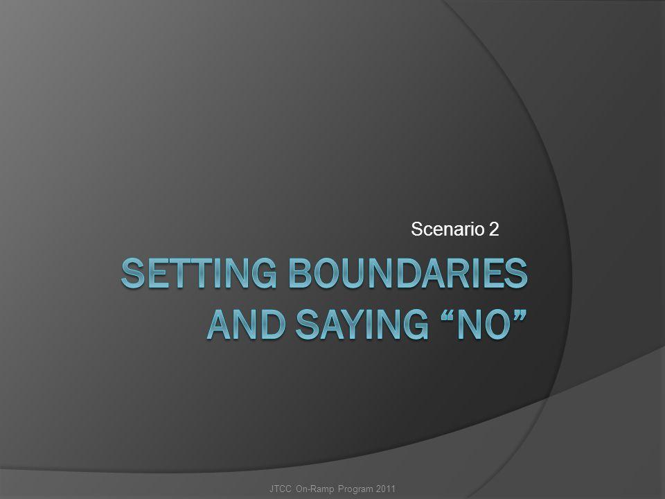 Setting Boundaries and saying NO