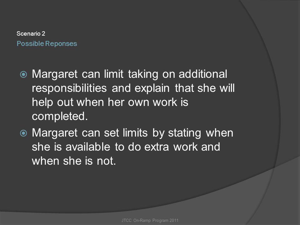 Scenario 2 Possible Reponses.