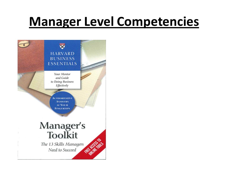 Manager Level Competencies