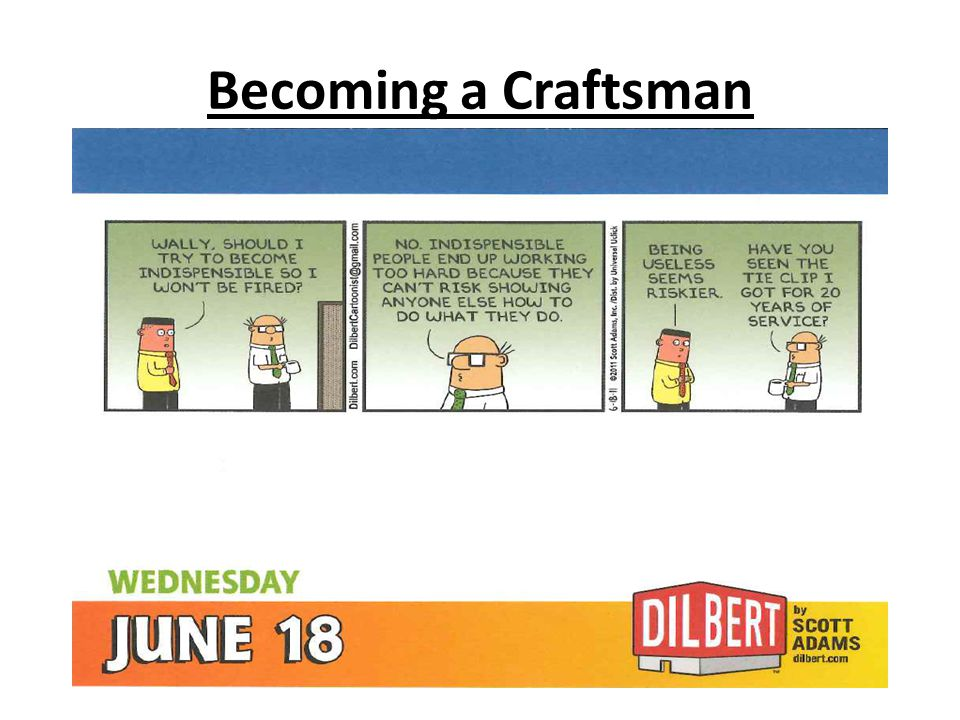 Becoming a Craftsman