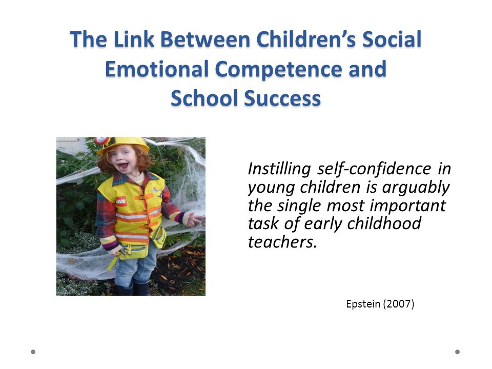 The Link Between Children's Social Emotional Competence and School Success
