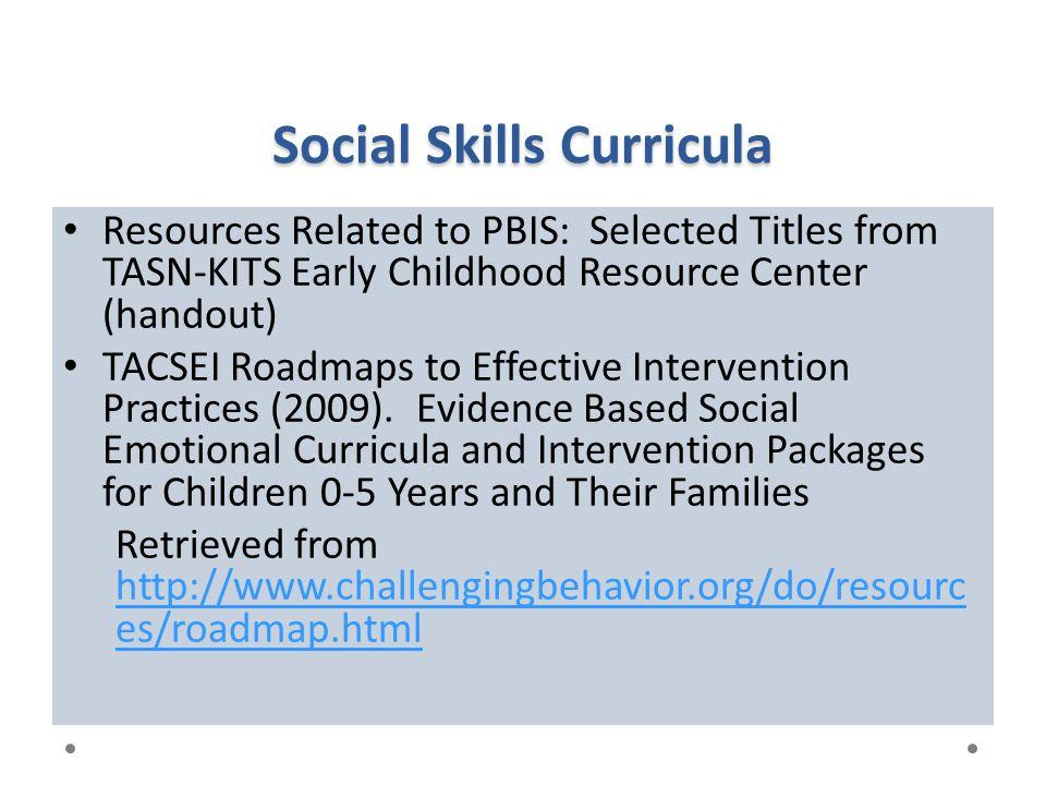 Social Skills Curricula